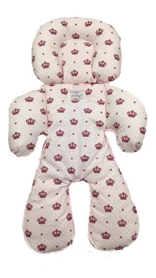 Almofada Capa Protetora Segura Bebê Berço Carrinho Moises Siliconizada Algodão