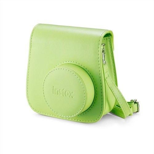 Bolsa De Couro Instax Mini 9 Verde Lima (original)