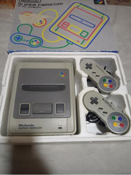 Super Famicom Snes Super Nintendo Na Caixa