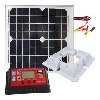 Kit Panel Solar Fotovoltaico 10wp + Regulador 10a + Soporte