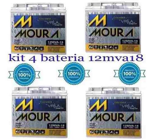 Kit 4 Baterias Nobreak Apc Sua3000i Smart-ups 3,0 Kva 3000va Moura