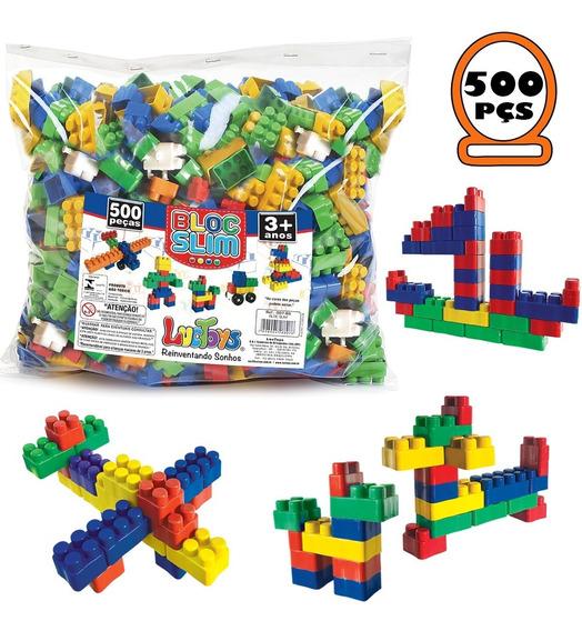 Blocos De Montar Infantil Brinquedo Educativo 500 Peças