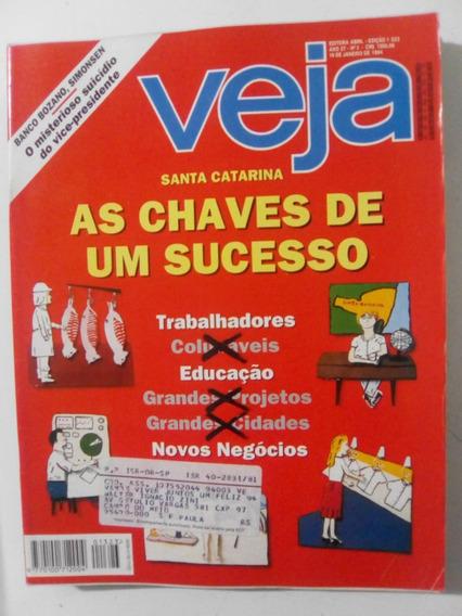 Revista Veja 1323 Santa Catarina Chico Caique Ferreira 1994