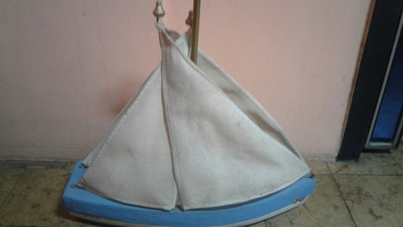 Bote A Vela Artesanal, Ideal Para Piletas, Flota, Juguete