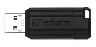 Pendrive 64 Gb, Verbatim, Retractil, Pinstripe 2.0