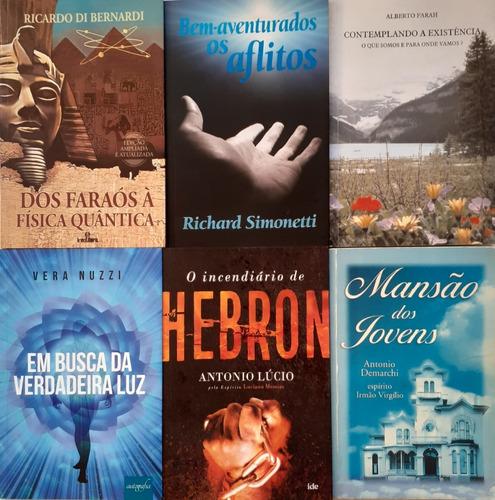 6 Livros Espiritas - Contemplando A Existencia + 5 Obras
