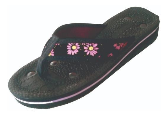 Sandália De Dedo Floral ( Opções) Verde E Em Rosa