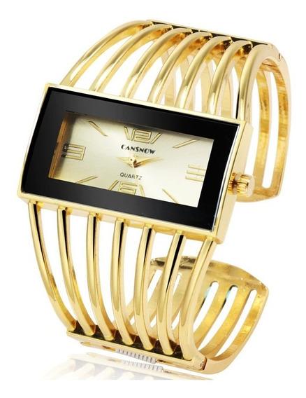 Relógio Luxo Dourado, Elegante