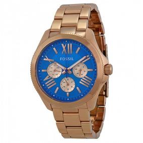 Relógio Fossil Am4556 Ouro Rosa