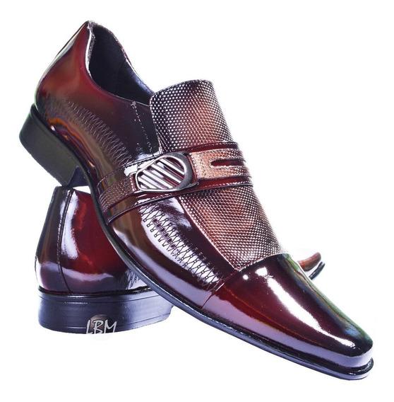 Sapato Masculino Italiano Luxuoso 100% Couro De Verniz - 063