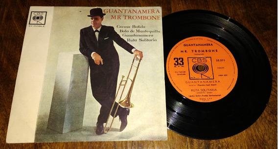 Mr Trombone Guantanamera Crema Batida Disco Simple Vinilo