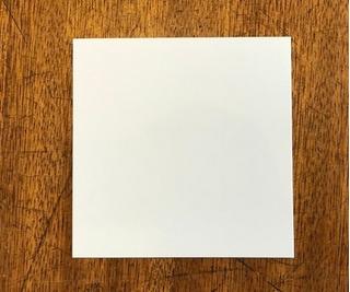 Base Cuadrada Plastificado Ppm Blanco Mate 9x9 Cm (x 100 U.) - Bauletto