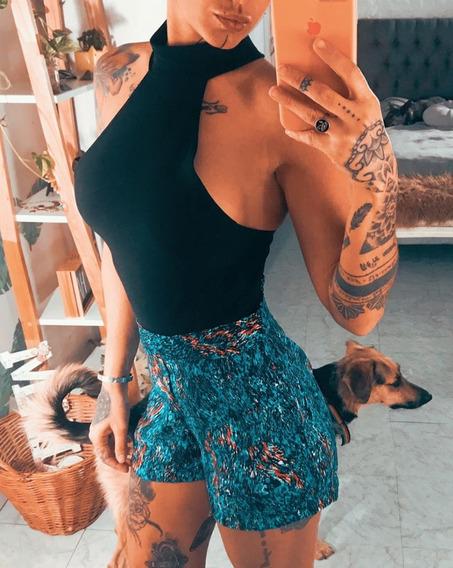 Short Tiro Alto Dama Mujer Fresco Talle 40/42 Art 7055