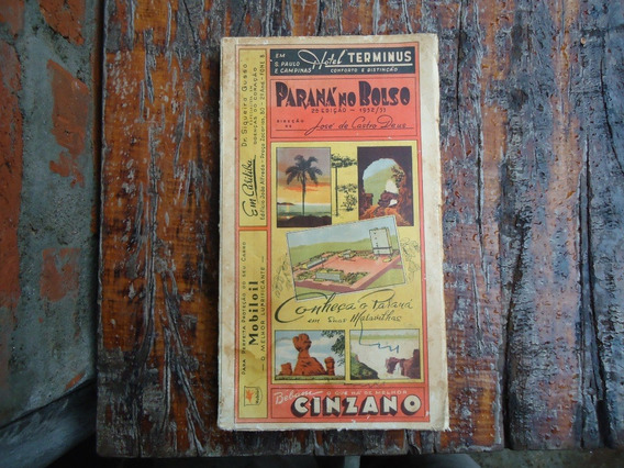 Livro Antigo Parana No Bolso 1952 Barato