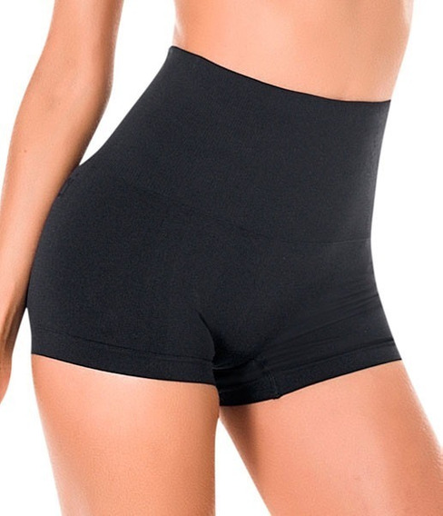 Cinta Modeladora Feminina Short Cintura Alta Modela Barriga