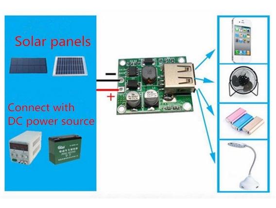 Controlador De Carga 5v Usb 2 Amp Carregador Solar