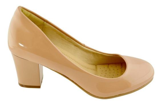 Sapato Feminino Salto Médio Grosso Facinelli Confortav 62801