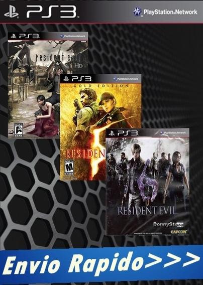 Jogos Residente Evil 4,5,6 [*cód Psn*] Combo De 3 Jogos Ps3