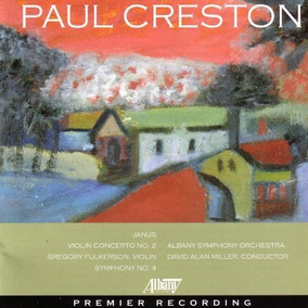 Cd Creston-symphony 4-violin Concerto 2-janus