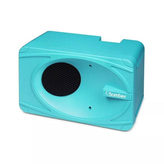 Caixa De Som Portátil Bluetooth My Bomber Turquesa Full
