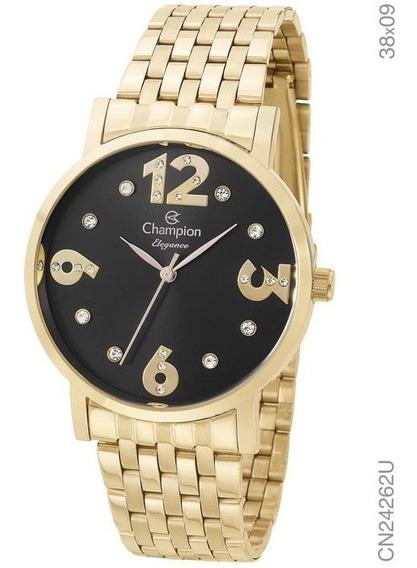 Relógio Champion Feminino Ref: Cn24262u Casual Dourado