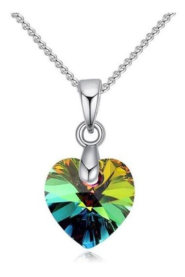 Collar De Corazón Swarovski (1 Modelo X Venta)