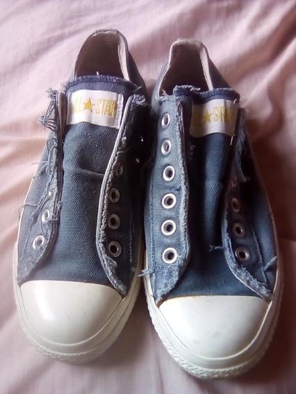 Converse Como Nuevos Tela De Jeans (imitación)