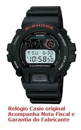 Relógio De Pulso Casio Masculino G-shock Dw-6900-1vdr