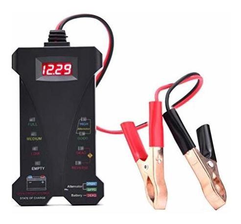Autder Comprobador De Bateria Para Coche 12 V 6 Luces Led P
