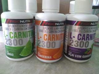 Caixa Com 6 L-carnitina 2300mg Queimador Se Gordura Líquido