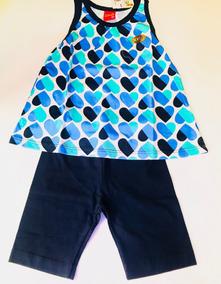 Conjuntos 2 Pcs Shorts Blusa Primavera Verão Kyly Tamanho 3