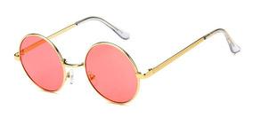 9791e569f5 Oculos Redondo Estilo John Lennon Lente Vermelha De Sol - Óculos com ...