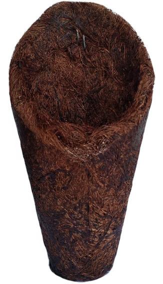 Kit Com 7 Vasos Fibra De Coco Cone Concha 24cm Ref.4258