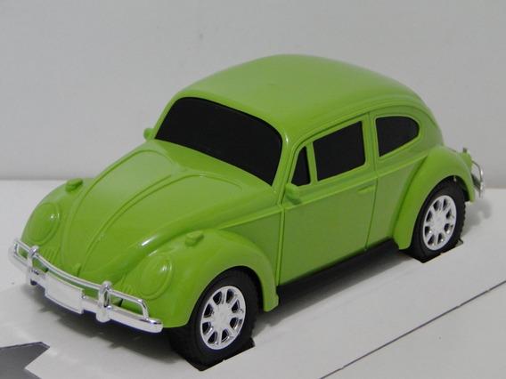Uma Miniatura Fusca Verde 1969 Carrinho Coleção Diverplas