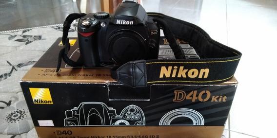 Câmera Nikon D40 Kit 18-55mm