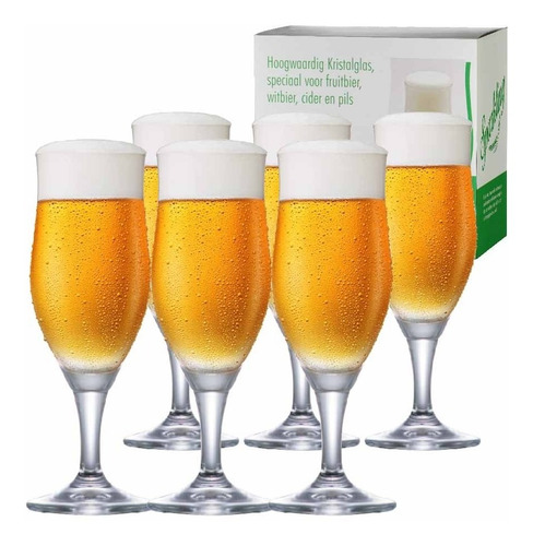 Imagem 1 de 4 de Jogo Taças Cerveja Cristal Sparkling M 390ml Conjunto 6pcs