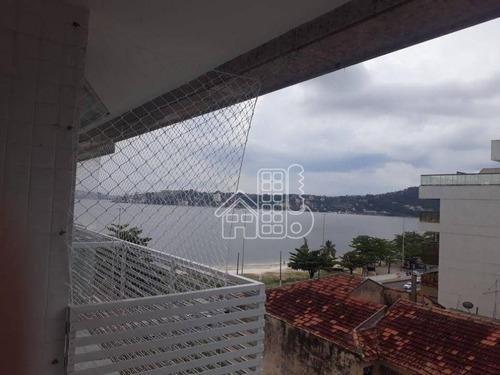 Apartamento Com 3 Dormitórios À Venda, 130 M² Por R$ 895.000,00 - Charitas - Niterói/rj - Ap4277