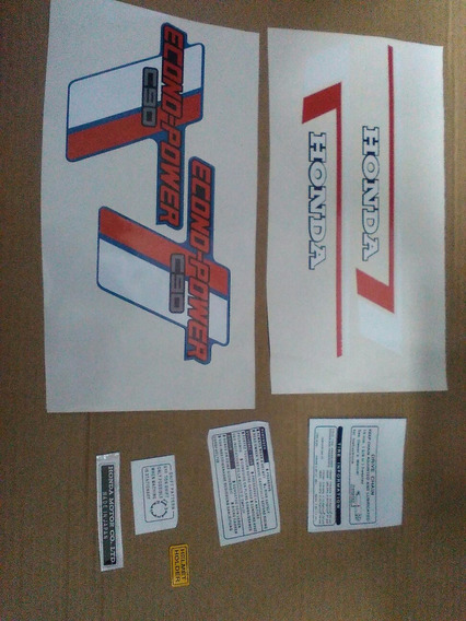 Calcos Honda C90 Econo Power Faro Cuadrado Azul