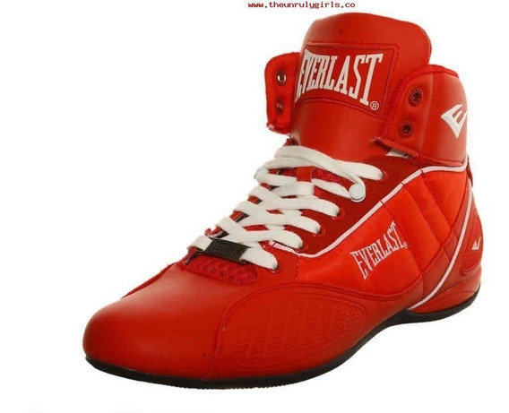 Everlast Rojo Original Punch1 Bota Box Gym Lucha