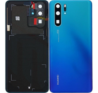 Tapa Huawei P30 Pro Aurora Blue Glass Camara Original