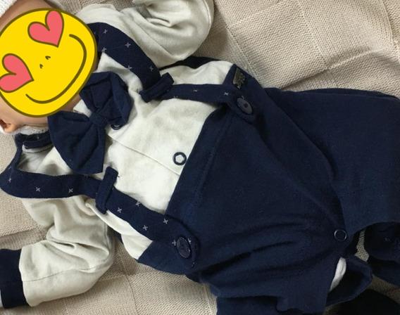 Promoção! Kit Saída Maternidade Social Menino Com Gravatinha