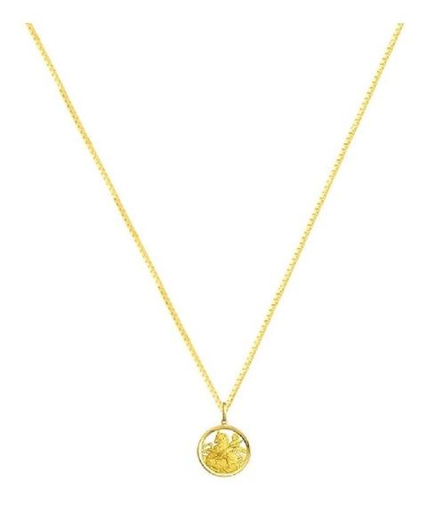 Cordão De Ouro 18k 45cm São Jorge Pequeno - Vgold J18
