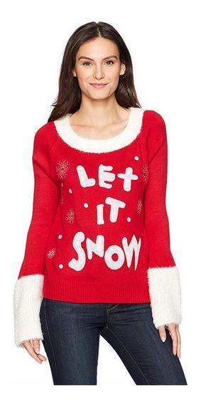 Sweater Navidad Mujer Blizzard Bay Let It Snow Xmas Sueter