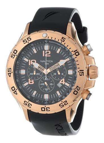 Reloj Nautica N18523g Hombre Cronografo Goma 100% Original