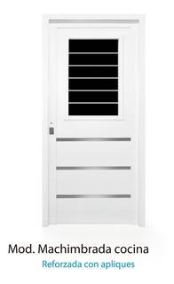 Puerta Inyectada Reforzada Cocina Con Apliques 80x200 Oferta