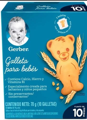 Imagen 1 de 1 de Galletas Para Beber Gerber 70g.