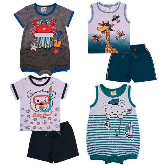 10 Roupa Infantil Bebê Menina Body Conjuntos Vestidos Barato