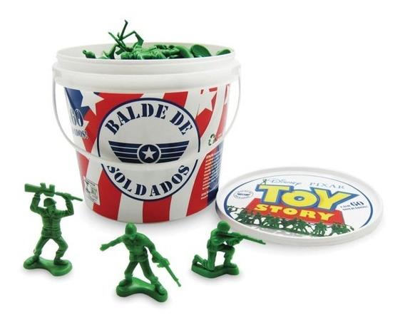 Toy Story Balde Com Soldados 60 Peças Toyng
