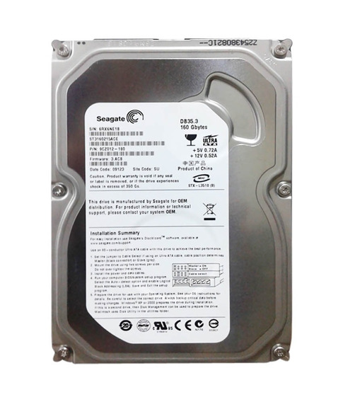 Hd Interno Sata Seagate 160 Gb