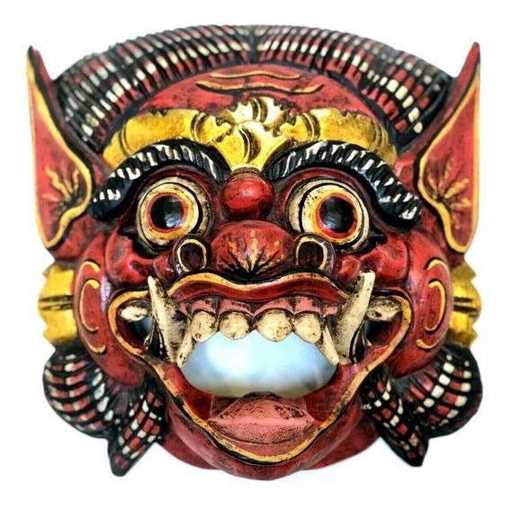 Mascara Barong Bali Indonesia Tallada A Mano 30 Cm